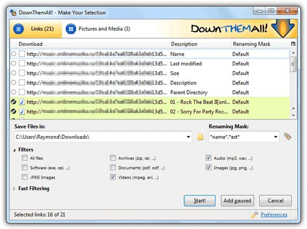 Phần mềm Download All Files