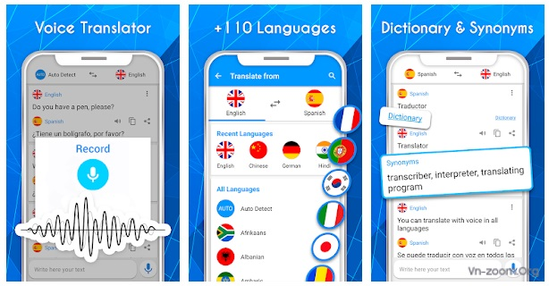 Ứng dụng Translate voice