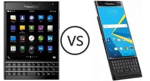 Đánh giá BlackBerry Priv so với Passport