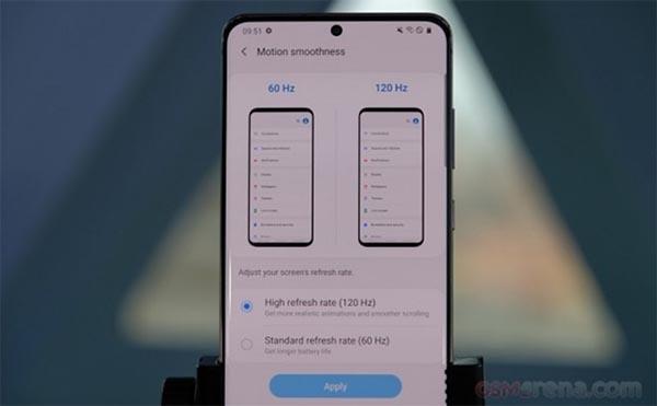 Hình ảnh rò rỉ về bản cập nhật mới của Samsung Galaxy S20 series