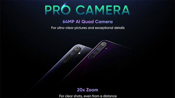 Camera 64MP trên Realme 6 Pro