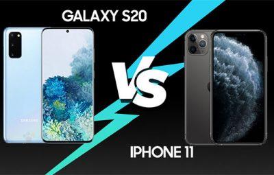 So sánh iPhone 11 và Galaxy S20 (1)
