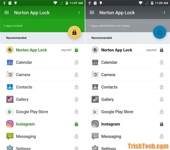 Norton App Lock được phát triển bởi hãng phần mềm diệt virus nổi tiếng