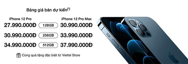 Đặt trước iPhone 12 Pro Max tại Viettel Store