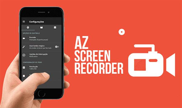 Ứng dụng AZ Screen Recorder trên iPhone