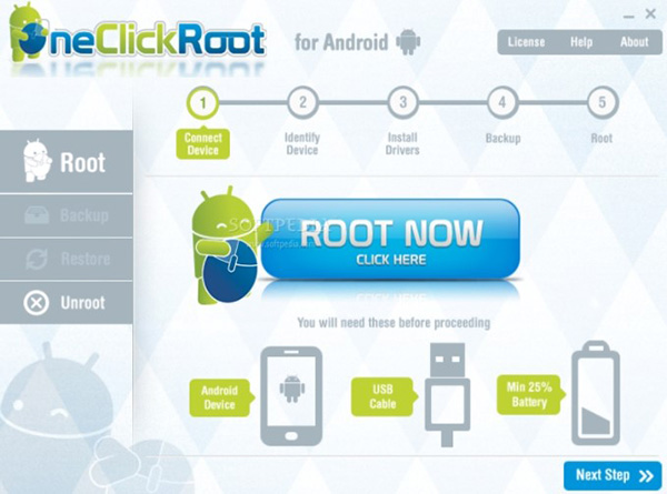 Ứng dụng One Click Root