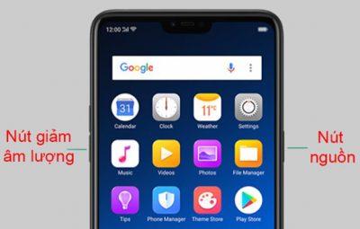 Cách chụp ảnh màn hình điện thoại Oppo bằng phím cứng