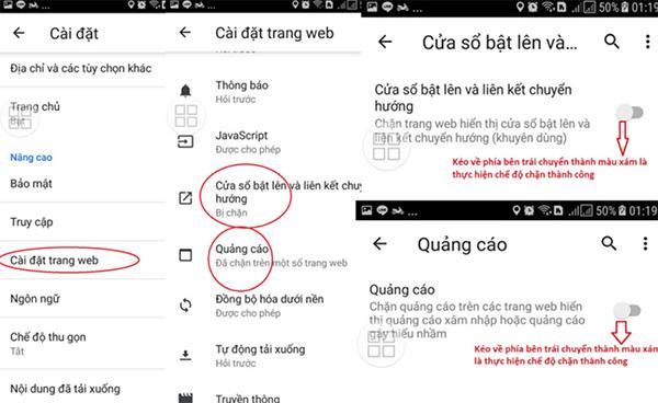 Tắt cửa sổ quảng cáo Pop-up và Ads trên điện thoại Android