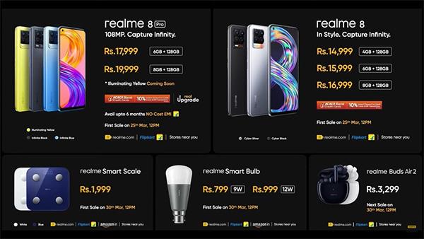 Giá bán dự kiến Realme 8