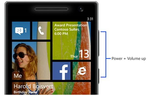 Cách chụp ảnh màn hình Windows Phone bằng phím cứng