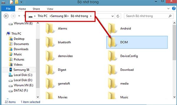 Cách chuyển dữ liệu từ samsung sang máy tính