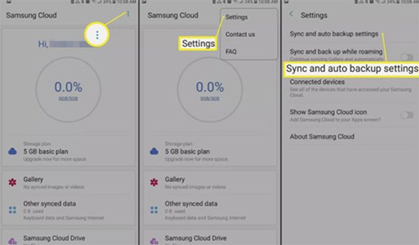 Cách vào Samsung Cloud trên điện thoại Samsung