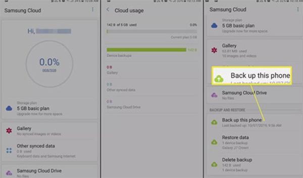 Cách vào Samsung Cloud trên điện thoại Samsung (2)