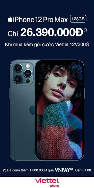 Mua iPhone 12 Pro Max chính hãng tại Viettel Store